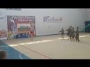 Показательное выступление гимнасток Смуглянка молдаванка под руководством тренера Любови Кизиловой