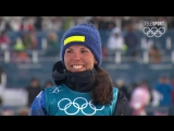Разыгран первый комплект медалей. Лыжные гонки Скиатлон женщины (хайлайт) 10.02.18