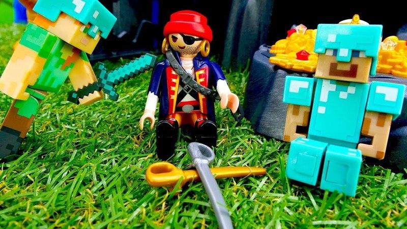 Игры для мальчиков Стив Майнкрафт и пираты Лего Майнкрафт