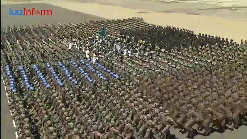 Мен қазақпын - строевая песня на пешем марше военного парада 2018_HD.mp4