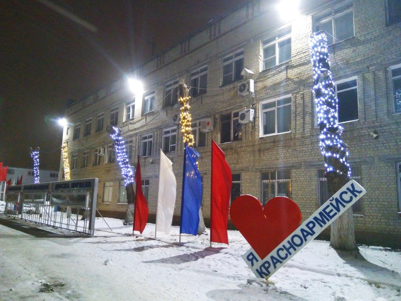 Новогоднее оформление площади Победы