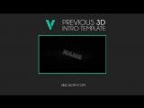 Free 3D Intro #40 _ Cinema 4D_AE Template