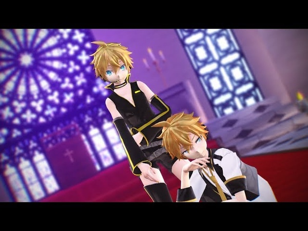 【MMD】Kiss me 愛してる【鏡音レン / Kagamine Len Punkish and BlueMoon】