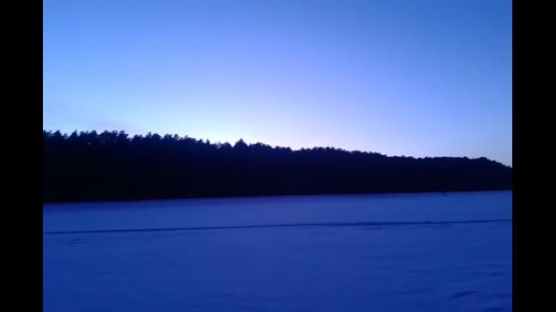 сысерть. на реке Исеть. после заката. турбаза