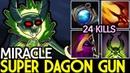 Miracle- [Pugna] Super Dagon Gun 24 Kills Solo Mid 7.19 Dota 2