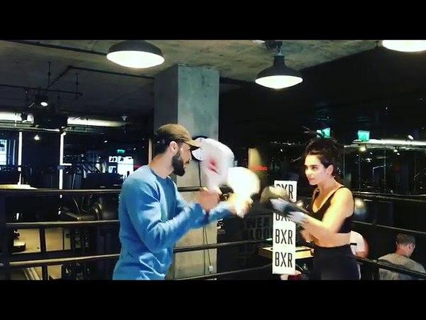Dua Lipa Training in boxing