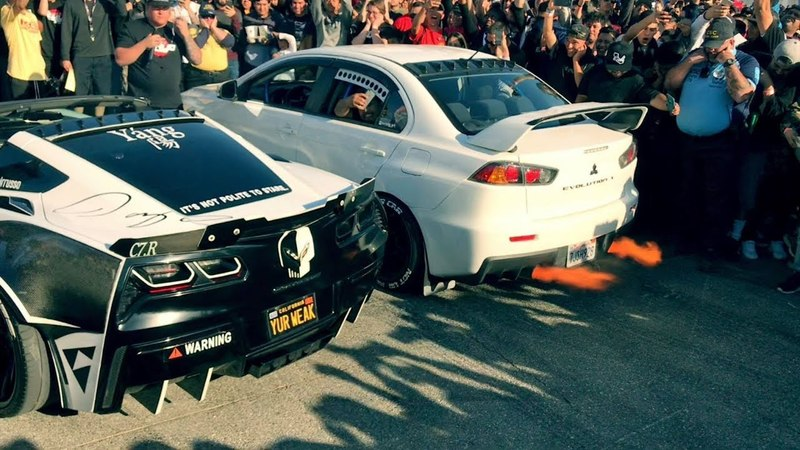 Evo X Destroys Muscle Cars In 2step Comp!