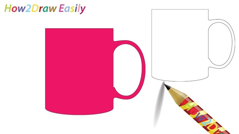 Mug Drawing Coloring Page - Watch Video- youtu.be/-8r1Sg5A6jA