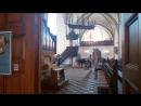 Оденсе_школьный урок пения в церкви, где крестили Андерсена.
