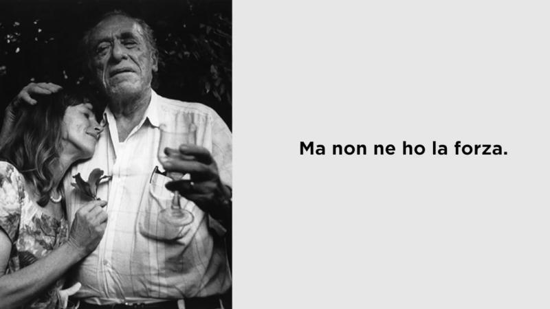 Non ho smesso di pensarti erroneamente attribuita a Charles Bukowski letta da P