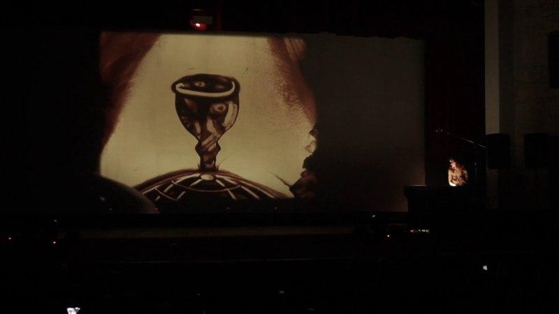 Школа восточного танца Бисер Песочная анимация на закрытие концерта от Студии СэндПРО
