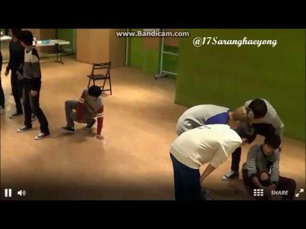 131025 Seokmin's hurt leg