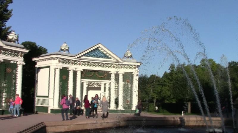 Петергоф,Нижний парк.Видеоселфи у фонтана Ева