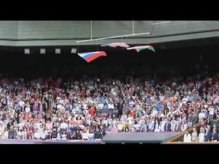 Флаг Америки рухнул как только заиграл ГИМН РОССИИ