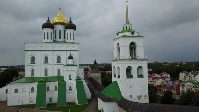 Полет над Псковом_ DJI Mavic pro flight over Pskov city