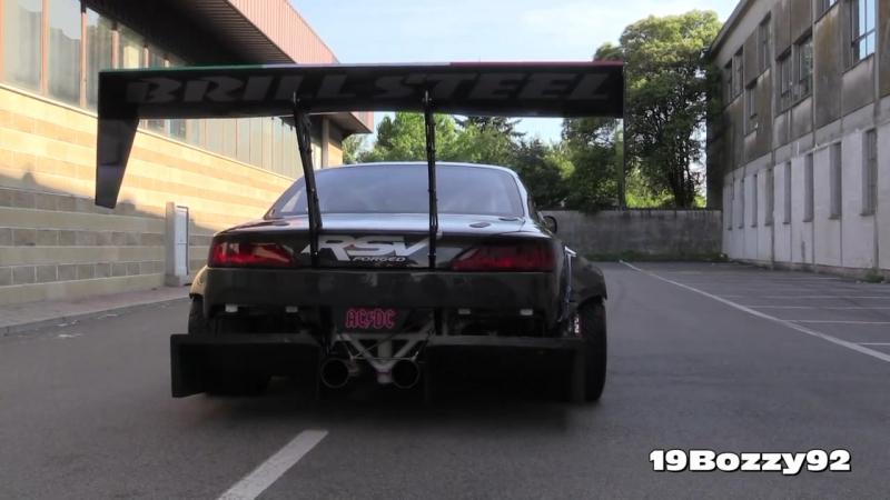Brill Steel 720hp V8 Carbon Nissan S14.5 Start Up Burnout