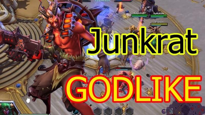 Junkrat Spotlight – Heroes of the Storm GODLIKE