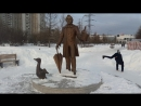 At the monument to H. C. Andersen in Moscow. LGBT TRAVELS © Copyright.