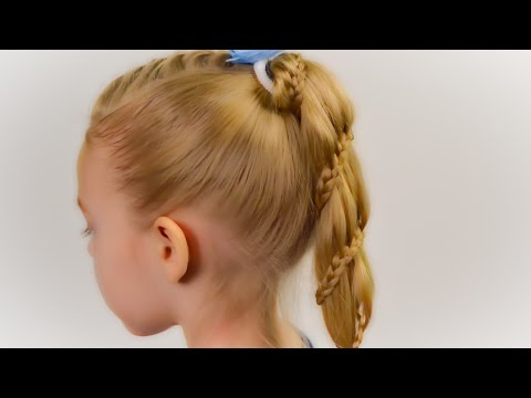 Winding Lace Braid Ponytail. Quick and easy hairstyle for little girl 27
