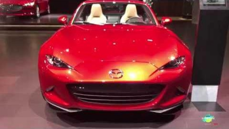 2018 Mazda MX 5 Miata RF Exterior and Interior Walk around LA Auto Show