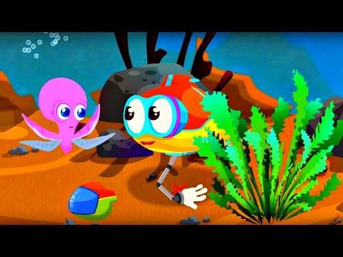Compilation № 1 avec Flippy petit sous-marin. Jeux d'assemblage