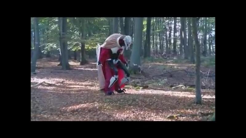 Star Wars General Grievous kostüm zu besuch auf endor