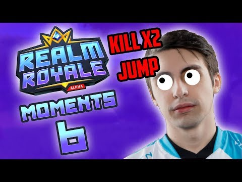 Shroud make DOUBLE KILL in LEAP! - Realm Royale WTF Moments Ep.6