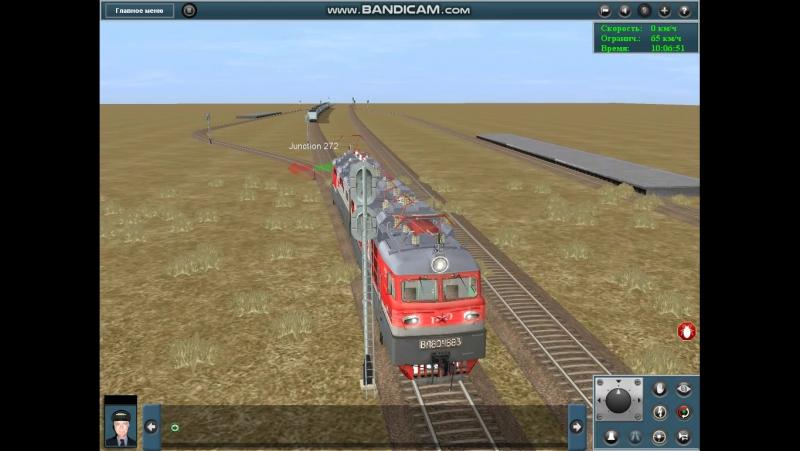 отвоз сломанного локомотива вместе с составом в депо!