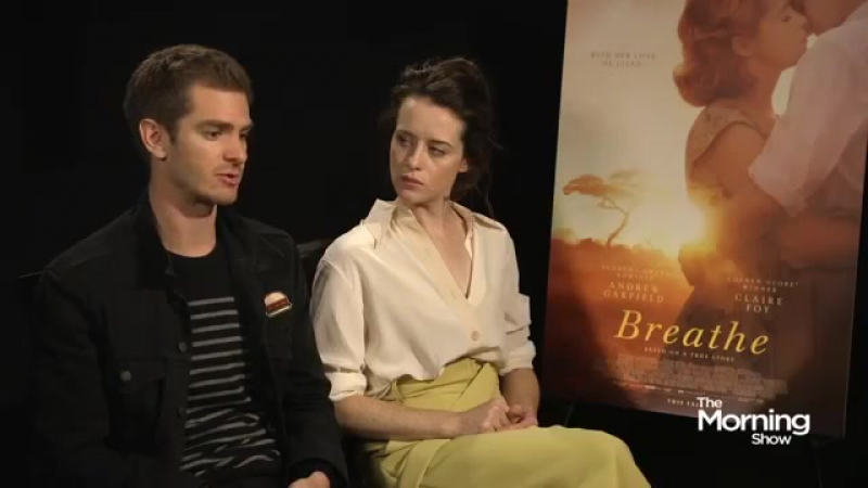 Andrew Garfield and Claire Foy on the movie 'Breathe' Watch