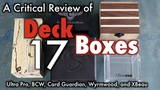 MTG - Deck Boxes 17 - A Review of Deck Boxes for Magic The Gathering, Pokemon, more!