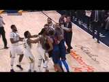 OKC Thunder vs Utah Jazz - All 11 fightbrawl scenes - ugliest game in years!