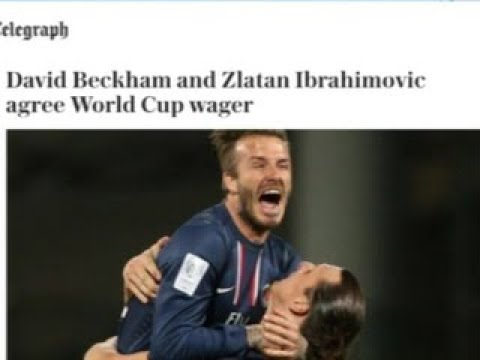 Ибрагимович и Бекхэм заключили пари перед матчем Англия - Швеция - Вести 24