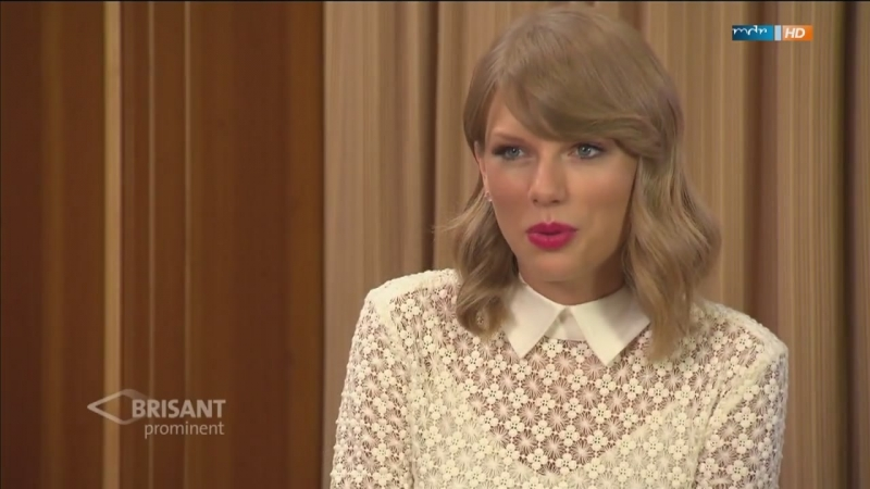 Taylor Swift - Interview for MDR Brisant prominent (27.10.2014)