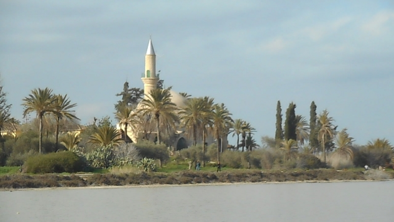 Ларнака Соленое озеро Фламинго Мечеть Хала Султан Текке