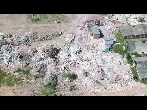 Незаконный полигон ТБО на месте СНТ в Богородском округе (квадрокоптер) - 17.07.2018
