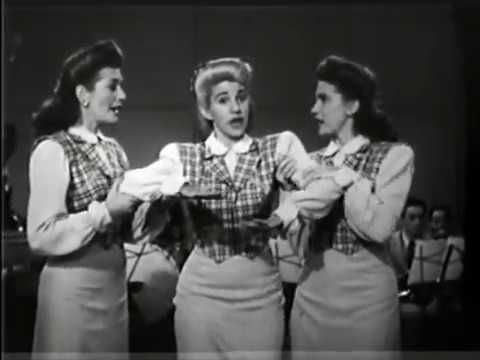 The Andrews Sisters Straighten Up and fly Right