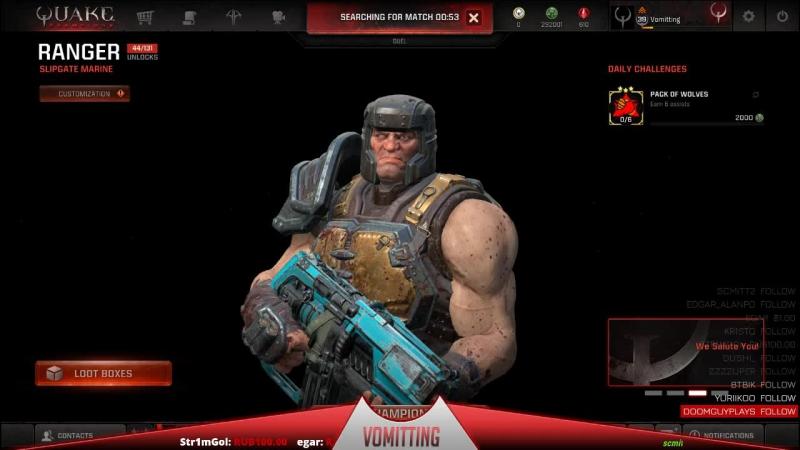 Quake Champions Выходные
