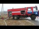 На Калинковичской большой пожар хозяин дома буянил и оказывал сопротивление