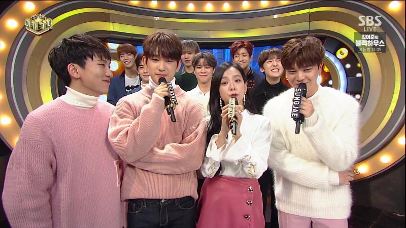 [OTHER] 171105 Джинён, Джису, Ынкван и Сончжэ MC @ SBS «Inkigayo».