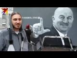 После двух побед России на ЧМ-2018 в Петербурге появилось граффити с портретом Станислава Черчесова