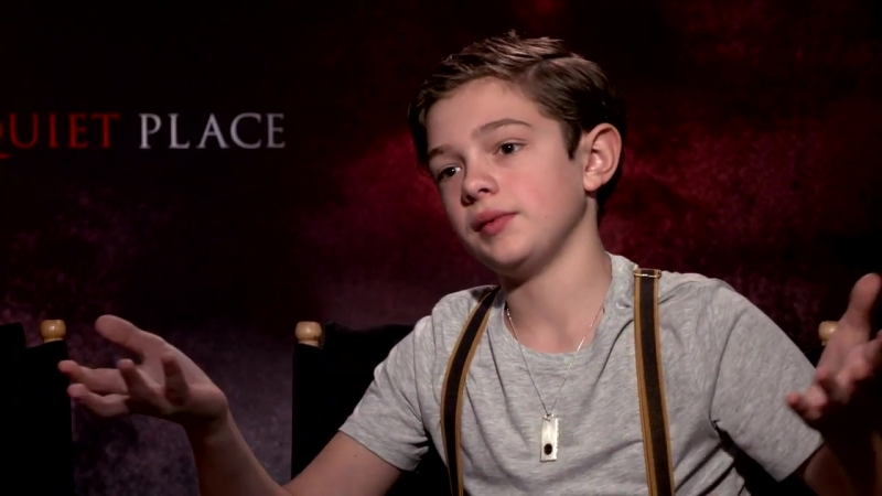 Millicent Simmonds and Noah Jupe talk about working on the A Quite Place