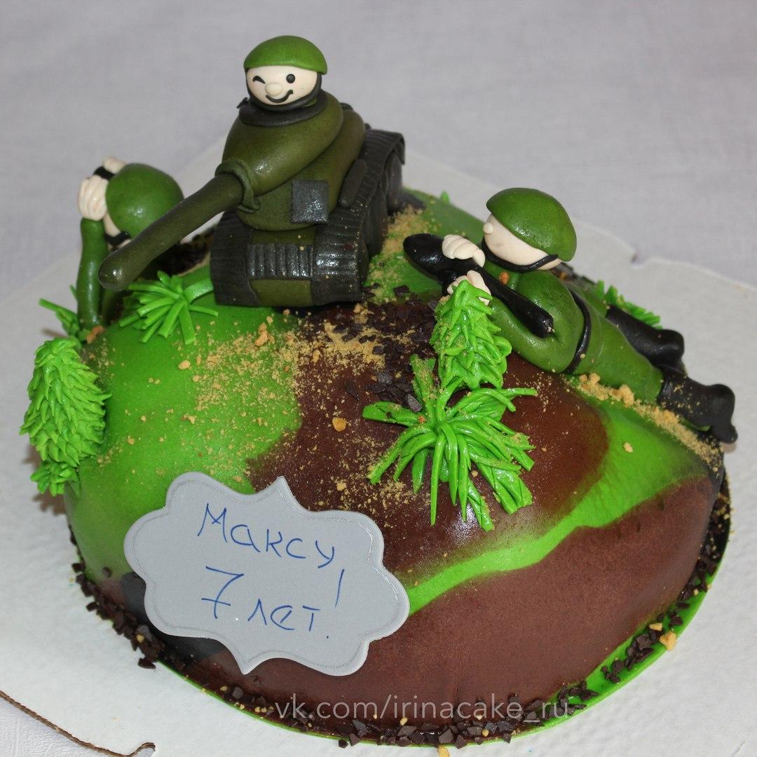 Детский торт с солдатами (Арт. 92)