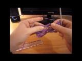 Как вязать вытянутые петли с обвязкой, брумстик?
