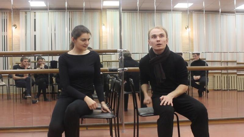 Импровизация. В тюрьме. Театр-студия РОМАНТИКИ. Исполняют Марина Кудрякова и Андрей Сухинин.