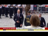 Prince William arrives at Amiens Cathedral in northern France to mark the centenary of the Battle of Amiens. - - For live update