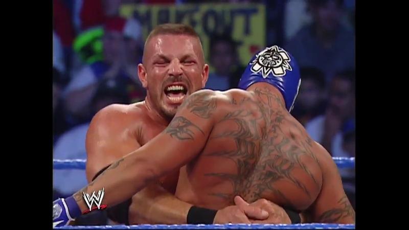 Rob Van Dam Rey Mysterio vs Mark Jindrak Luther Reigns SmackDown 11.04.2004