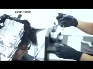 Техника окрашивания омбре на чёрных волосах. Светлана Василевская