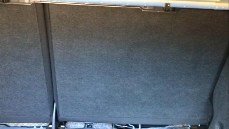 Пример химчистки багажного отсека