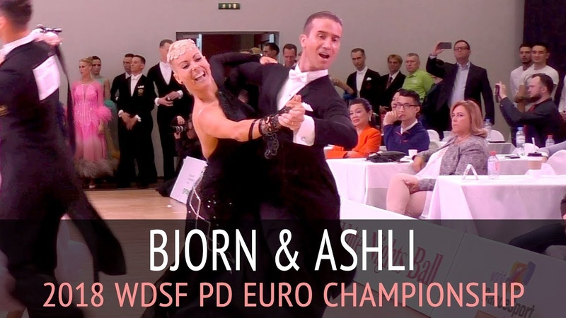 Bjorn Bitsch Ashli Williamson | Квикстеп | 2018 WDSF PD Чемпионат Европы - 1/4 финала