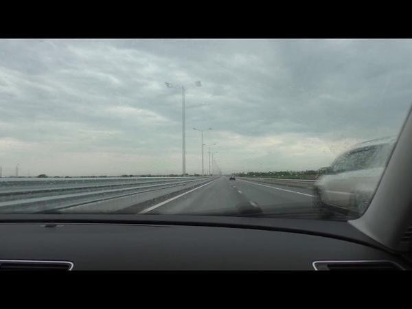 Заезжаем на Крымский мост со стороны Симферопольской трассы. Eka Crimea